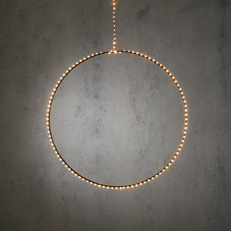 Edelman LED Ring Outdoor 145 LED warmweiss 50cm Metall schwarz - Pic 1