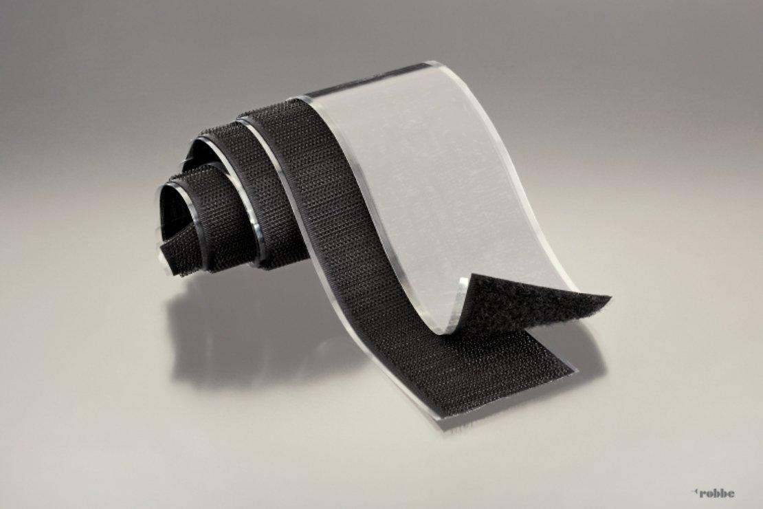 FASTECH FAST-Tape Klettband selbstklebend Haken- & Flauschteil - 50 x 500 mm schwarz - Pic 1