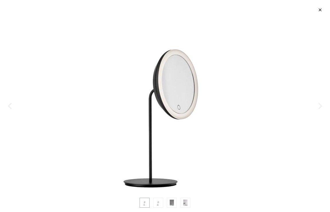 Zone Denmark Kosmetik Tischspiegel 5-fache Vergrößerung schwarz - Pic 1