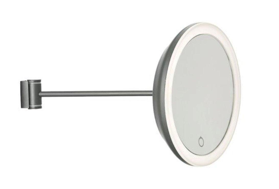 Zone Denmark Kosmetik Wandspiegel 5-fache Vergrößerung grau - Pic 1