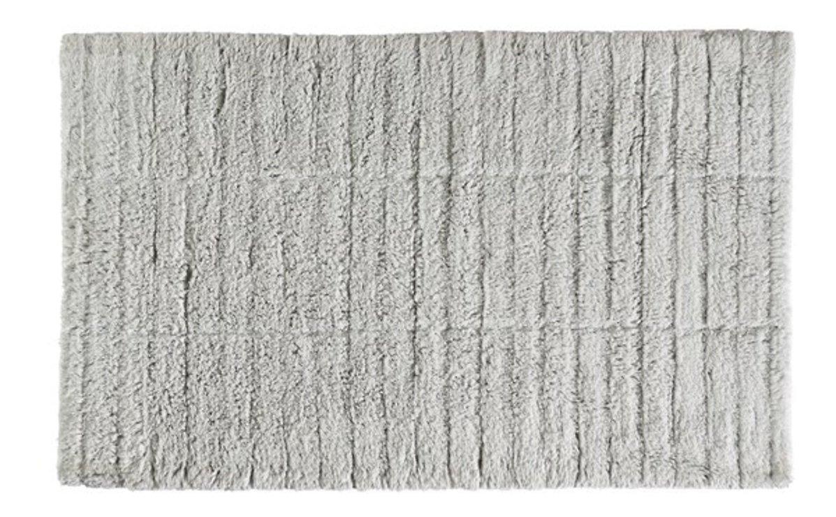 Zone Denmark Badematte Tiles 80 x 50 cm Baumwolle hellgrau - Pic 1