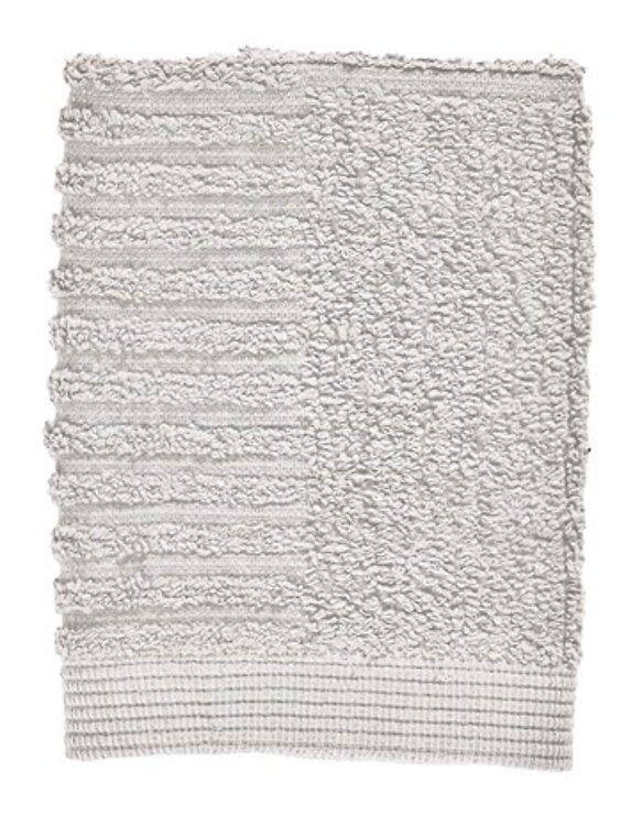 Zone Denmark Handtuch Waschlappen Classic 30x30 cm Baumwolle hellgrau - Pic 1