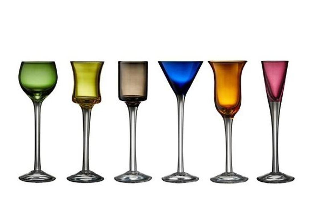 Lyngby Glas Schnaps Glas 2,5 cl bis 4 cl 6er Set - Pic 1