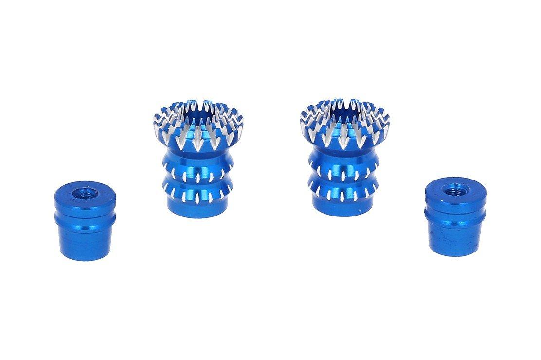 FrSky CNC Alu M3 Gimbal Stick End Lotus Blau - Pic 1