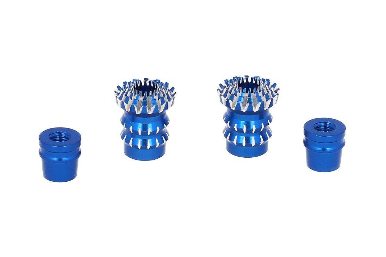 FrSky CNC Alu M4 Gimbal Stick End Lotus Blau - Pic 1