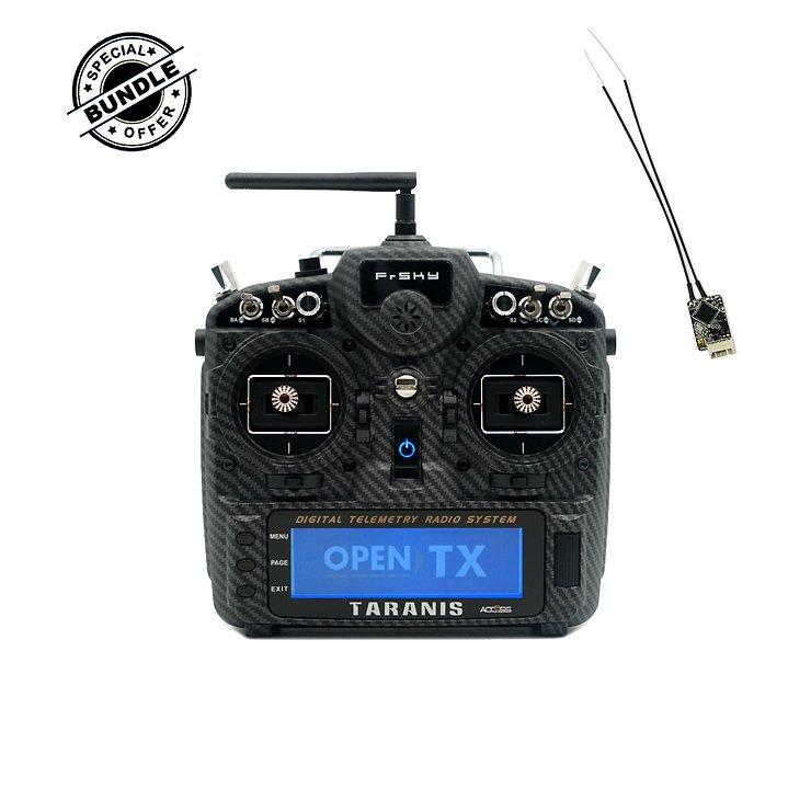 FrSky Taranis X9D Plus V2019 Matt Carbon mit Soft Case Transporttasche inklusive R-XSR Empfänger EU LBT - Pic 1