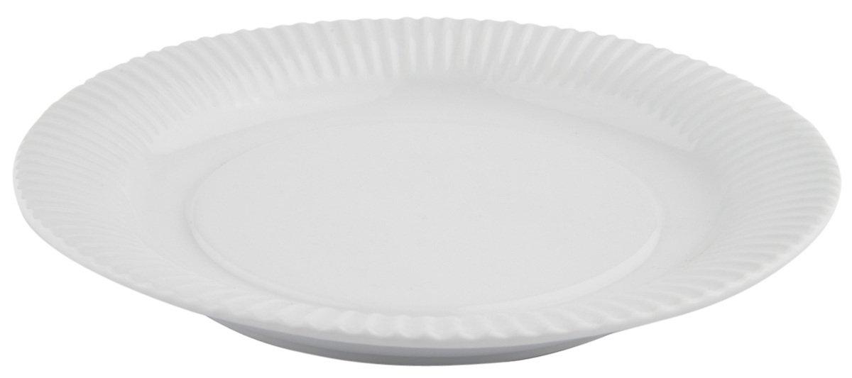Galzone Teller Porzellan weiß 23cm - Pic 1