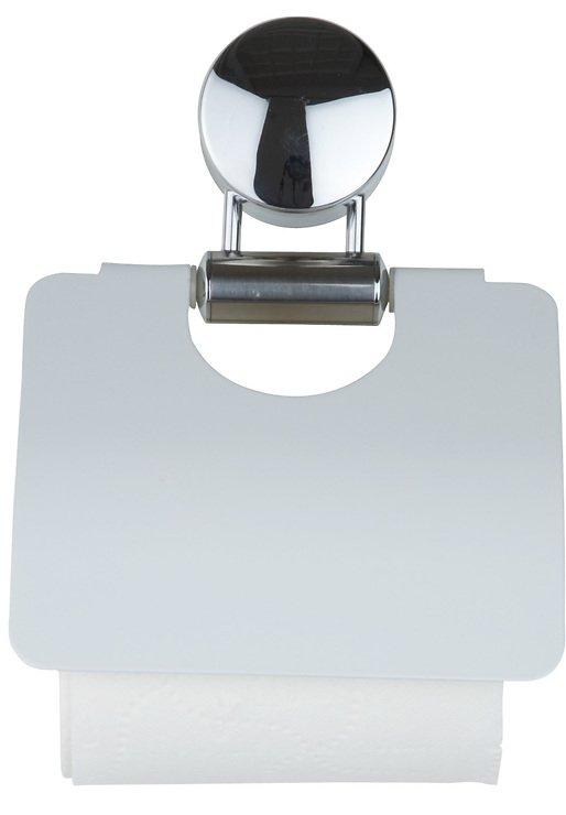 Galzone Toilettenpapierhalter chrom/weiß - Pic 1