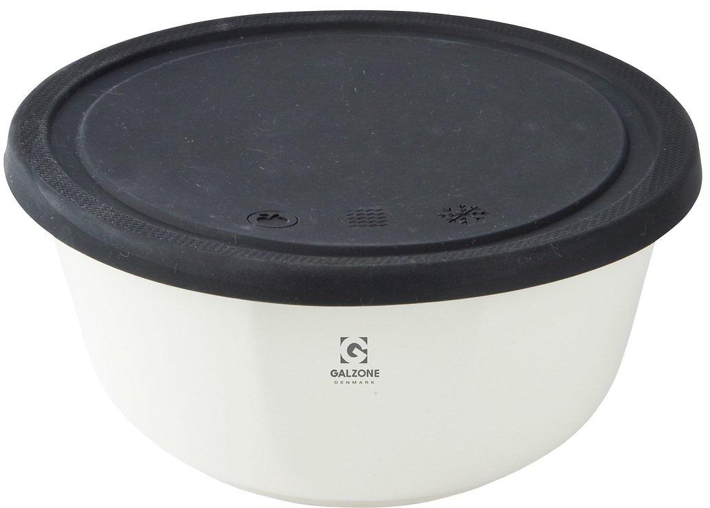Galzone Vorratsdose aus Porzellan mit Silikondeckel schwarz 18cm - Pic 1