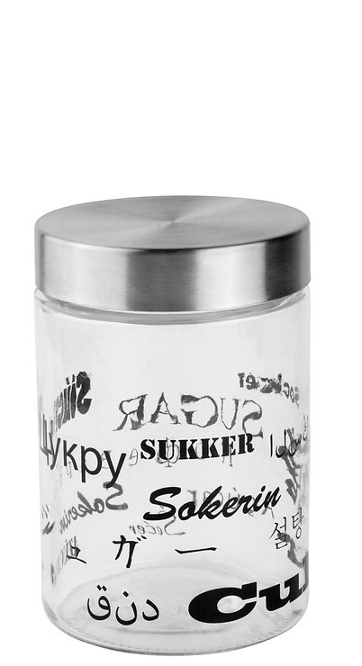 Galzone Vorratsdose aus Glas mit Stahldeckel 17cm - Pic 1