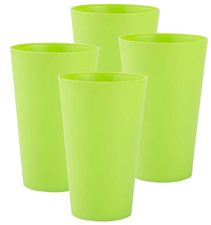 Galzone Trinkbecher Kunststoff grün 8x13cm 4er Set - Pic 1
