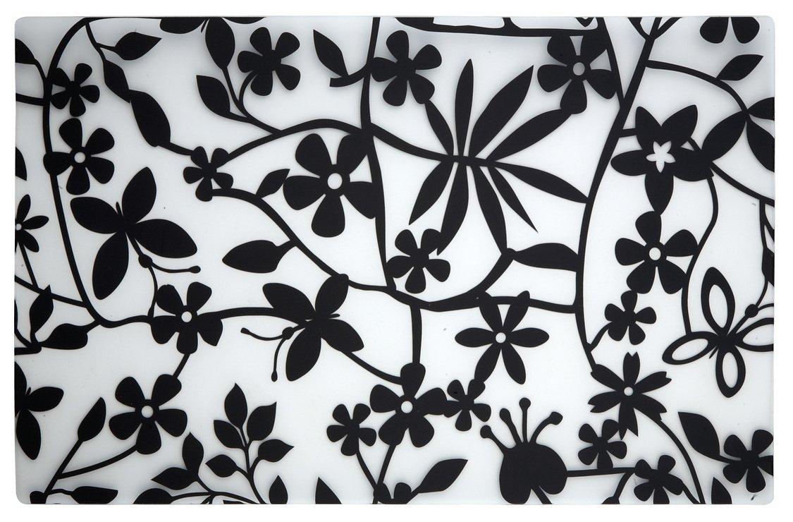 Galzone Tischset Blume schwarz/transparent 28,5 x 44cm - Pic 1
