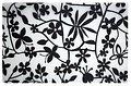 Galzone Tischset Blume schwarz/transparent 28,5 x 44cm