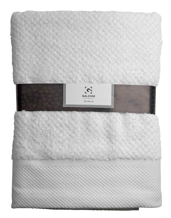 Galzone Handtuch Baumwolle 70x140cm 400g weiß - Pic 1