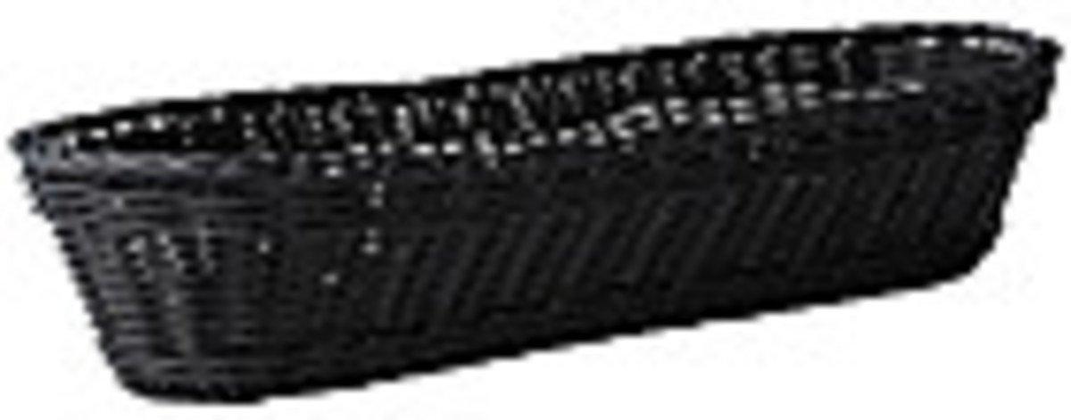 Galzone Korb geflochten Kunststoff schwarz 37cm - Pic 1