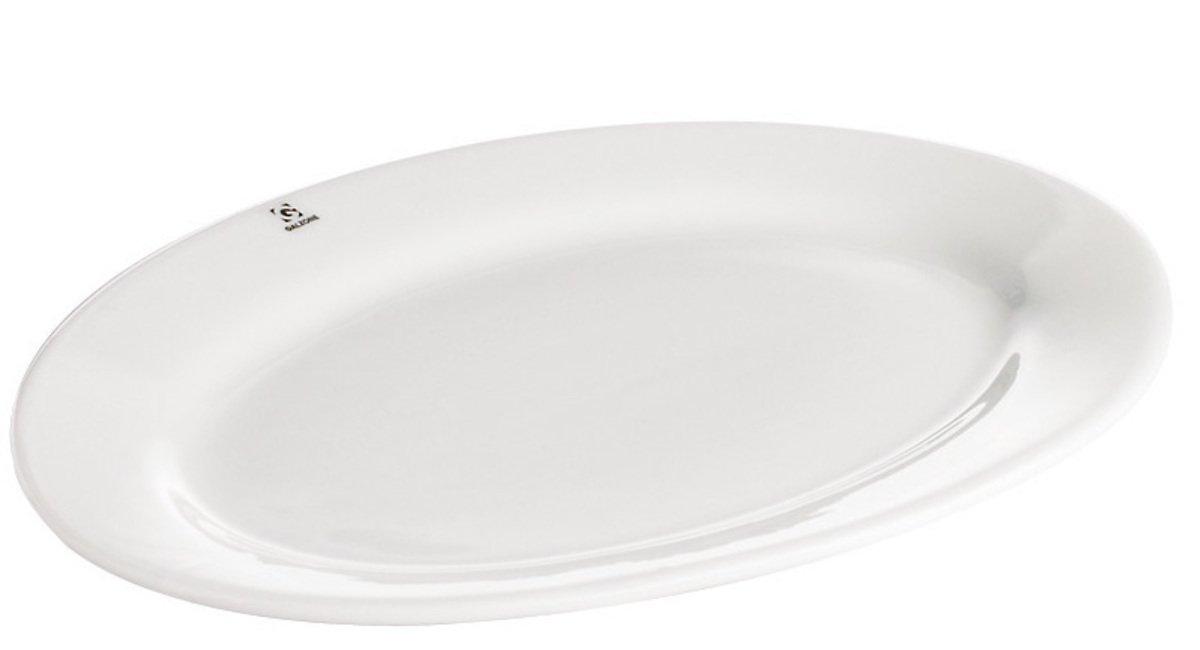 Galzone Servier-Platte Porzellan weiß oval 35x25cm - Pic 1