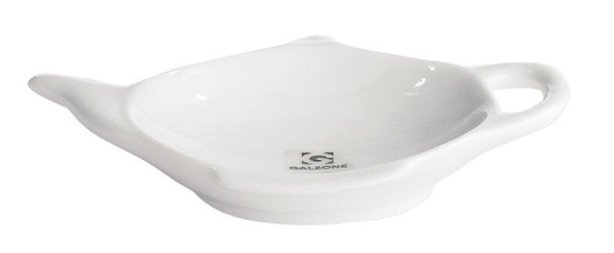 Galzone Servierschälchen mit Griff Porzellan weiß 11,5 x 9 cm - Pic 1