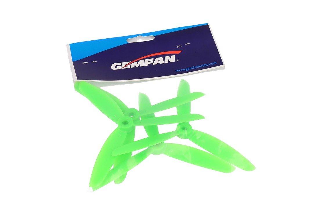 Gemfan 5045 5x4.5 ABS 3-Blatt-Propeller - Grün (2xCW, 2xCCW) - Pic 1