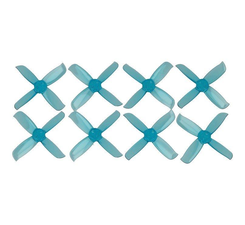 Gemfan 2036 2x3.6 Hulkie 4-Blatt Propeller Klar Blau 2 Zoll - Pic 1