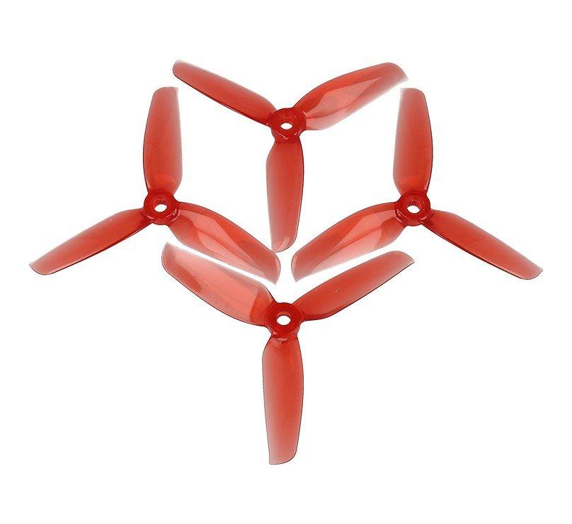 Gemfan 4032 4x3,2 WinDancer 3-Blatt-Propeller Klar Rot 2xCW, 2xCCW 4 Zoll - Pic 1