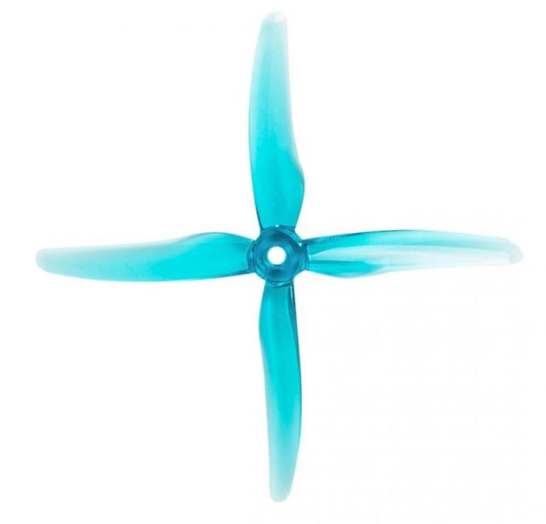 Gemfan 51455 Hurricane 4 Blatt Propeller Klar Blau 4 Stück 5 Zoll - Pic 1