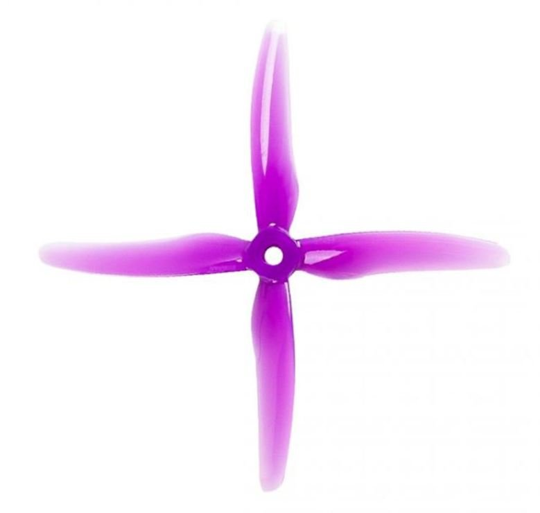 Gemfan 51455 Hurricane 4 Blatt Propeller Lila 4 Stück 5 Zoll - Pic 1