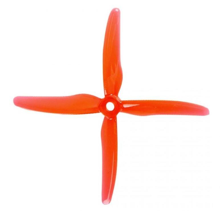 Gemfan 51455 Hurricane 4 Blatt Propeller Klar Rot 4 Stück 5 Zoll - Pic 1
