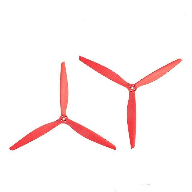 Gemfan 13X10 3 Blatt Propeller Rot 2 Stück 1x CW 1x CCW 13 Zoll - Pic 1