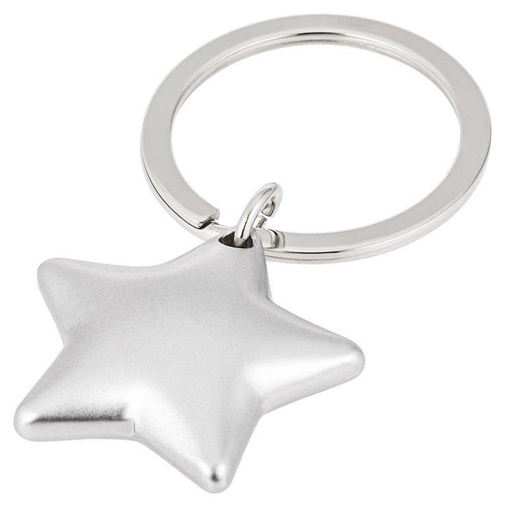 Gift Company Schlüsselanhänger Stern Silber matt - Pic 1