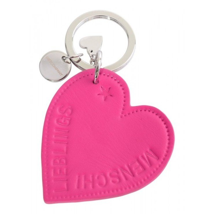 Gift Company Schlüsselanhänger Lieblingsmensch Leder pink - Pic 1