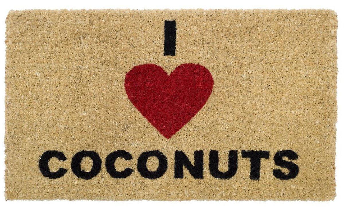 Gift Company Fußmatte I Love Coconuts Kokos 74 x 44cm beige - Pic 1