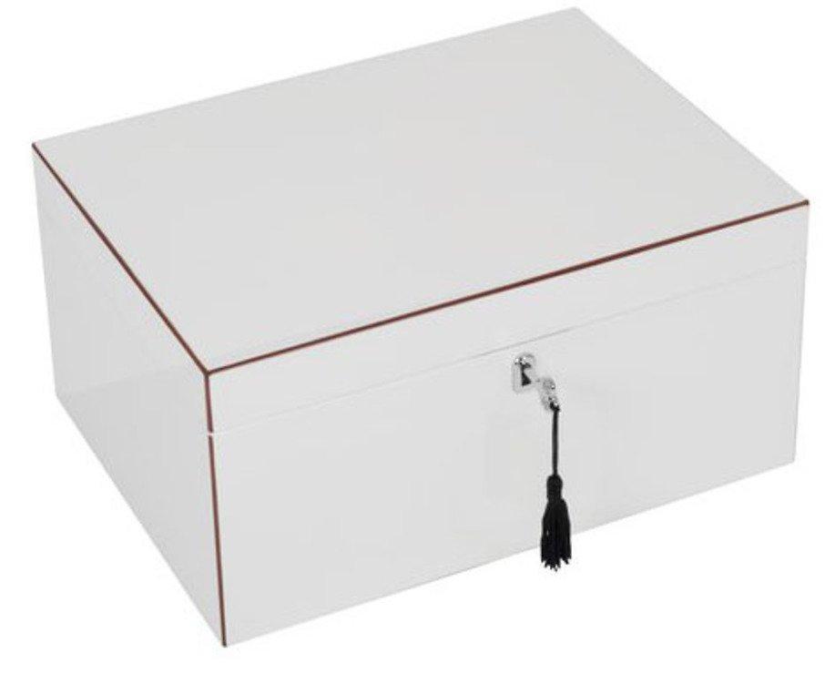 Gift Company Schmuckbox Tang mit Spiegel und Schloss weiß 31cm - Pic 1