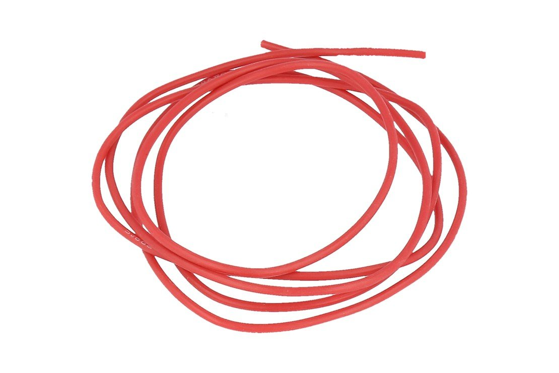 Graupner Silikonkabel 0,5 qmm 1m rot 20 AWG - Pic 1