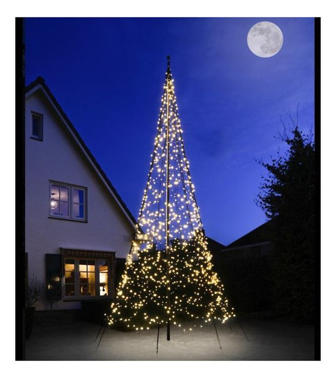 Fairybell LED Baum Fahnenmast 2000 LED warmweiß außen 6m - Pic 1