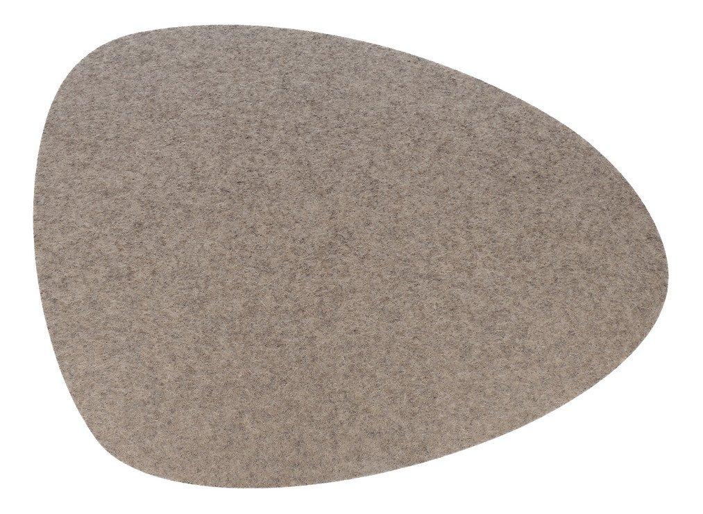 Hey-Sign Tischset Filz 5 mm oval 44 x 38 cm hellmeliert 1 Stück - Pic 1