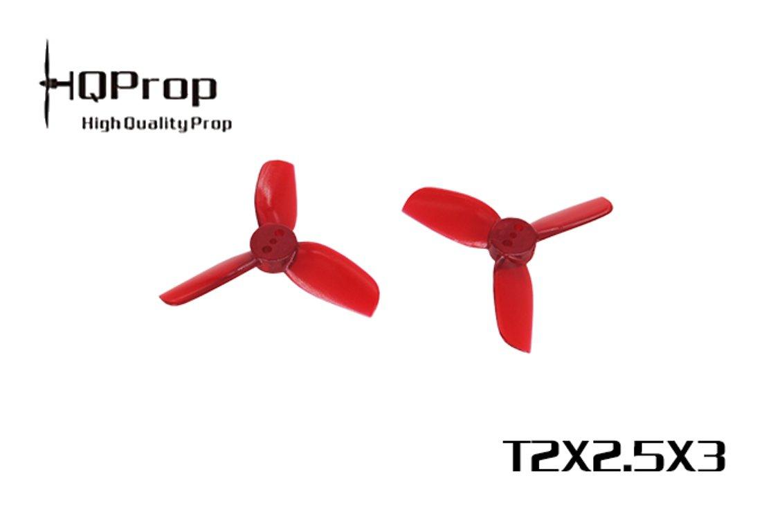 HQ Prop 2025 Dreiblatt 2X2.5X3 Hell Rot 2 Zoll - Pic 1