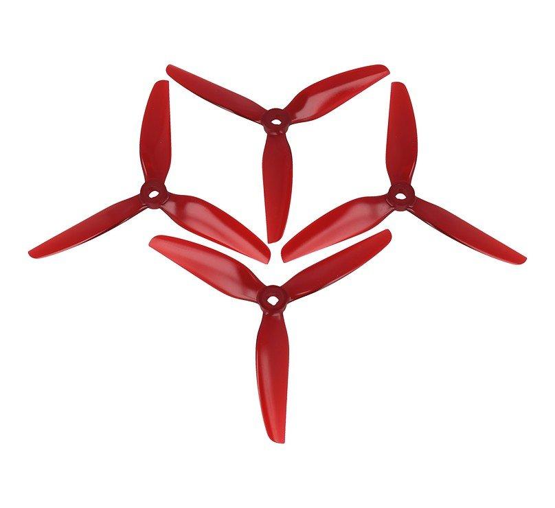 HQ Prop 5141 Dreiblatt V1S Rot POPO 2CW+2CCW Poly Carbonat FPV Propeller - Pic 1