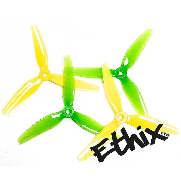 HQProp Ethix S4 3 Blatt Propeller Lemon Lime 4 Stück - Pic 1