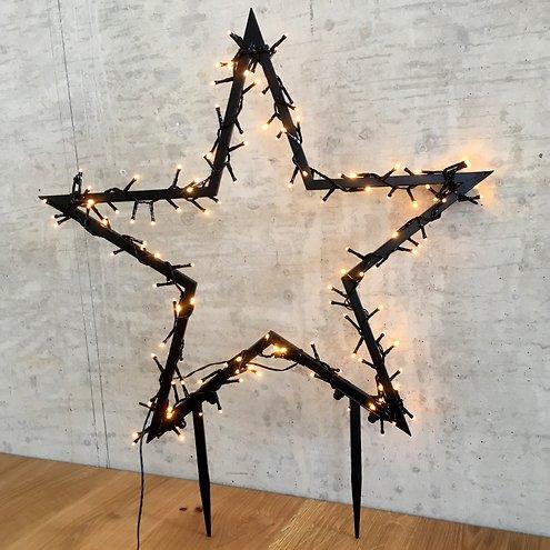Luca Lighting Leuchtstern Outdoor 225 Led Warmweiss 90x102cm Gartenstecker Kaufen Lichterkettenshop24 De