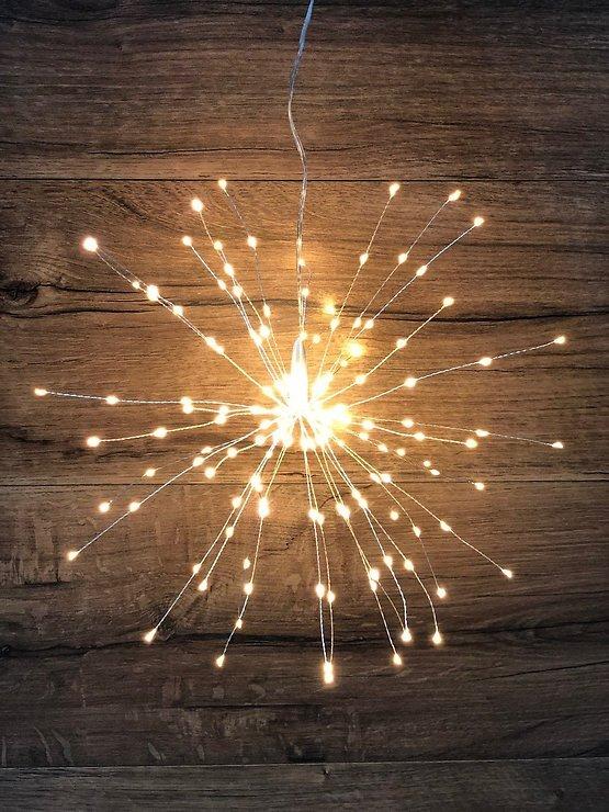 Lights4Christmas LED Polarstern Sputnik 160 LED 40cm Outdoor silber - Pic 1