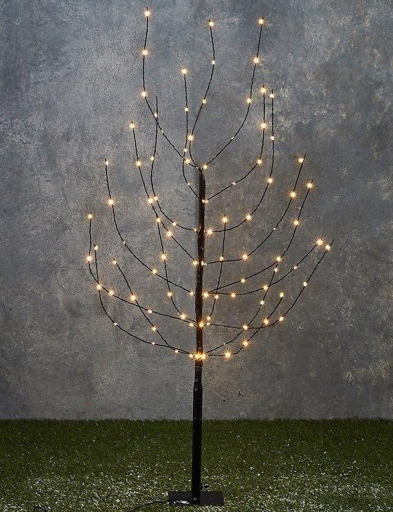 Lights4Christmas LED Baum 140 LED warmweiß 1,4m Outdoor schwarz - Pic 1