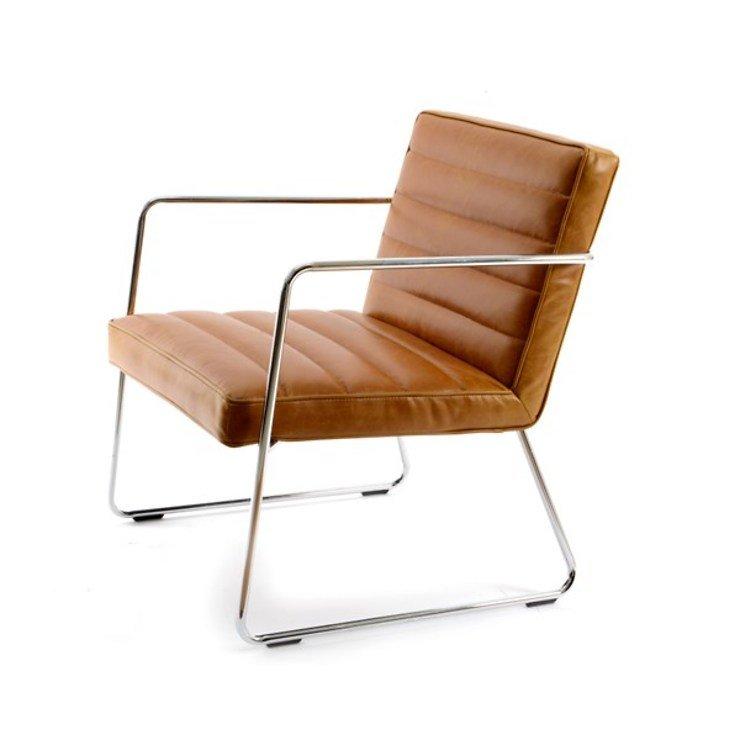 Kaemingk Lounge Stuhl Leder Chrom Cognac Kaufen