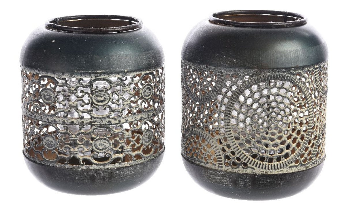 Kaemingk Teelichthalter 2er Set 11 x 14cm Eisen kupferbraun - Pic 1