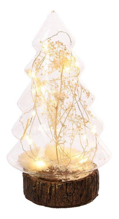 Kaemingk Leuchtbaum Glas/Holz 20 Micro LED 12 x 22cm batteriebetrieben transparent - Pic 1