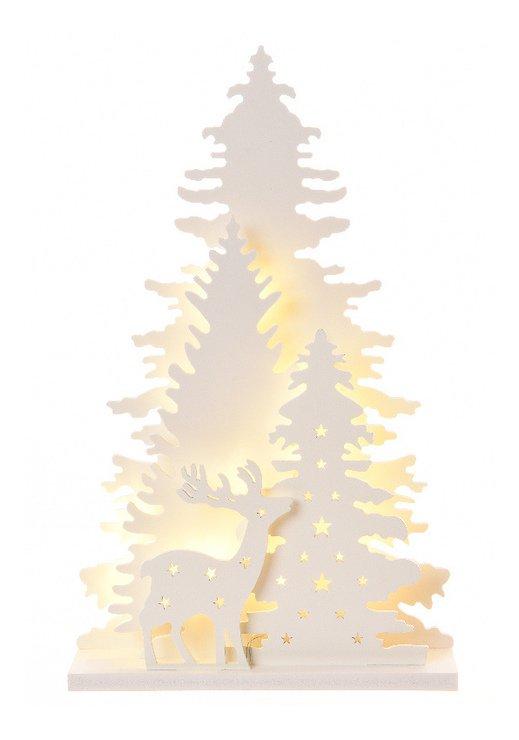 Kaemingk Leuchtbaum 30 LED 30 x 46cm batteriebetrieben Timer weiß - Pic 1