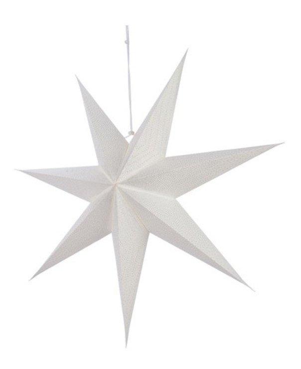 Kaemingk Leuchtstern 60 cm inkl. Leuchte Papier weiß - Pic 1