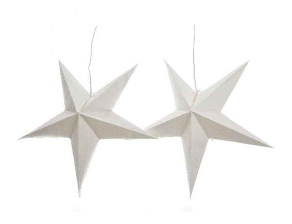 Kaemingk Leuchtsterne 60 cm inkl. Leuchten Papier weiß - Pic 1