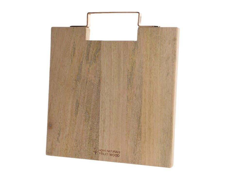 Kaemingk Schneidebrett Holz Griff kupferfarben 33 x 30cm - Pic 1