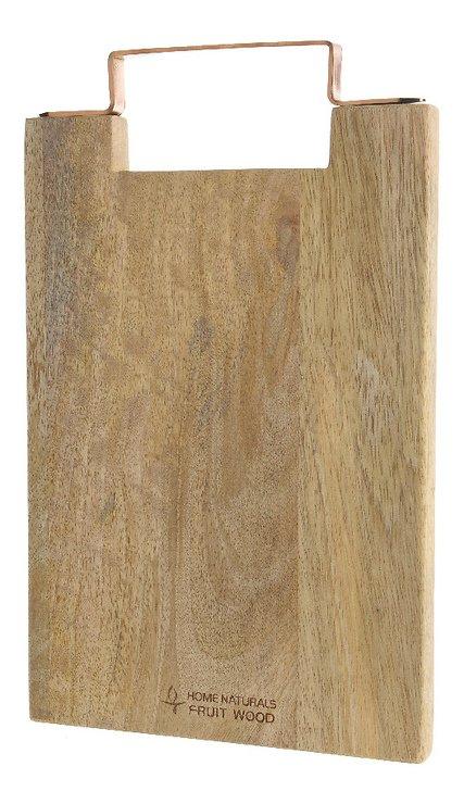 Kaemingk Schneidebrett Holz Griff kupferfarben 36 x 22cm - Pic 1