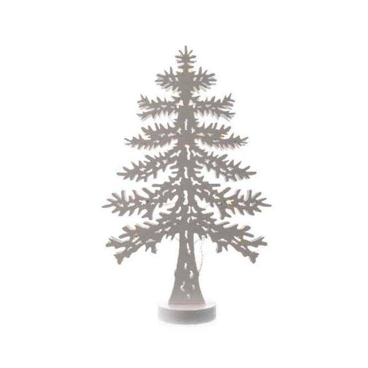 Kaemingk Leuchtbaum Sillhouette 45 cm Holz weiß - Pic 1